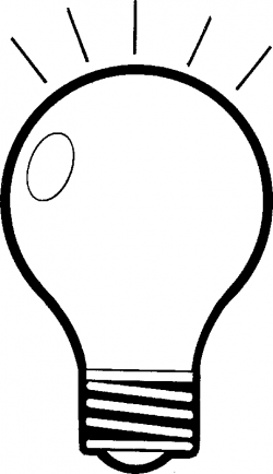 Lamps clipart black and white