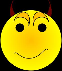 Devil clipart smiley face