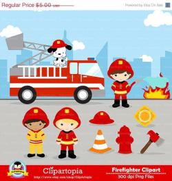 Firefighter clipart helicopter