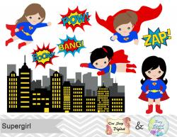 Super Girl clipart cute