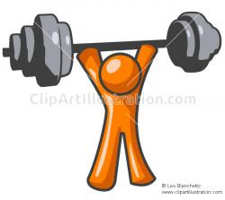 Warrior clipart lifting weight