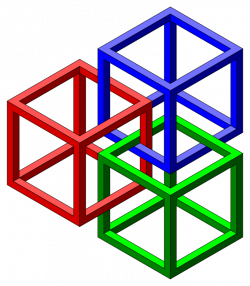 Optical Illusion clipart cube