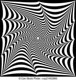 Drawn optical illusion black and white