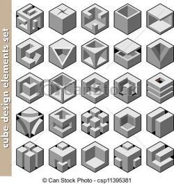 Typeface clipart 3d cube