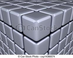 Illusion clipart 3d cubes