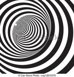 Optical Illusion clipart endless tunnel
