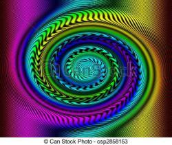 Spiral clipart rainbow swirl