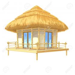 Cottage clipart bamboo house