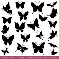 Illistration clipart butterfly silhouette