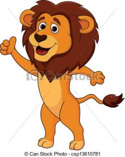 Illustration clipart cartoon lion