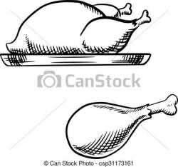 Legz clipart roast chicken