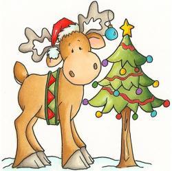 Christmas clipart moose