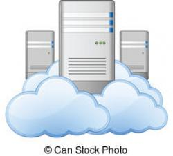 Illustration clipart cloud server