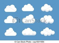 Illustration clipart cloud shape