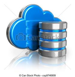 Illustration clipart cloud storage