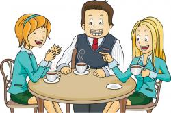 Illustration clipart coffee meeting