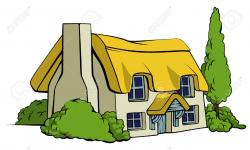 Illustration clipart country house