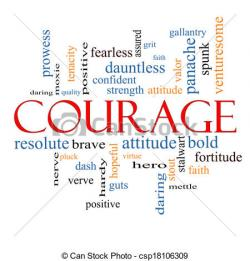 Illustration clipart courage
