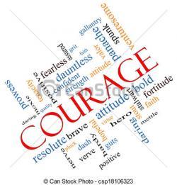 Illistration clipart courage