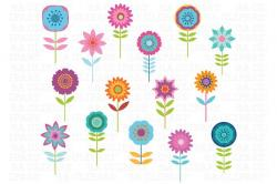 Illustration clipart cute flower