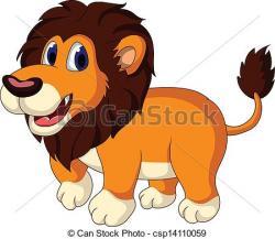 Illistration clipart cute lion