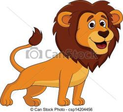 Illustration clipart cute lion