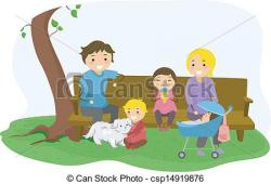 Illustration clipart family bonding