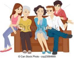 Illistration clipart family bonding
