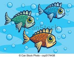 Illustration clipart fish swimming