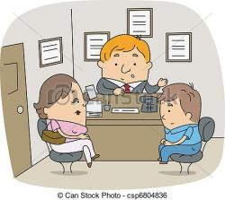 Illustration clipart individual counseling