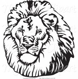 Illustration clipart lion mane