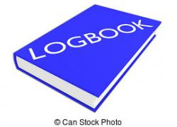 Illustration clipart log book