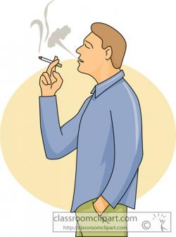 Men clipart smoking cigarette