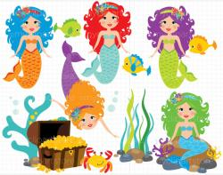 Illustration clipart mermaid