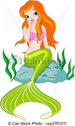 Mermaid clipart beautiful mermaid