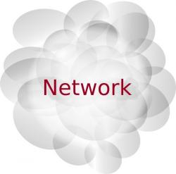 Illustration clipart network cloud