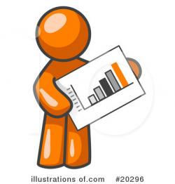 Illustration clipart orange man