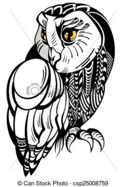 Illustration clipart owl