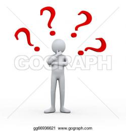 Illustration clipart question mark man