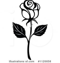 Illustration clipart rose