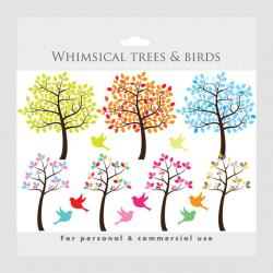 Illistration clipart whimsical tree