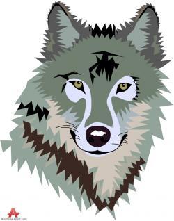 Werewolf clipart wolf head