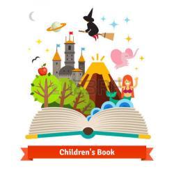 Fantasy clipart fairytale book