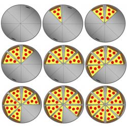 Pizza clipart pizza fraction