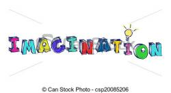 Imagination clipart the word
