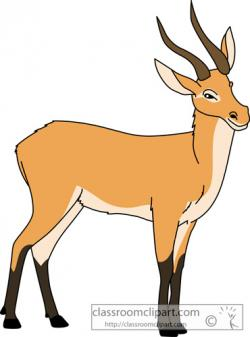 Pronghorn Antelope clipart impala