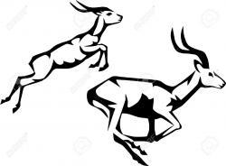 Springbok clipart animal