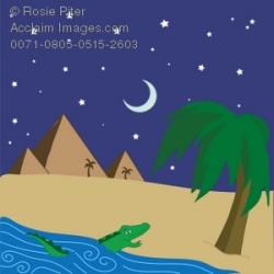 Nile River clipart cartoon