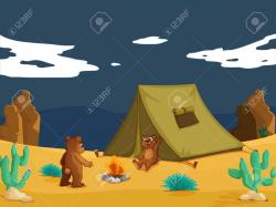 In The Desert clipart animated