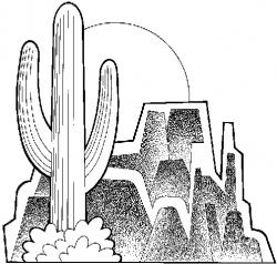 Black And White Arizona Clipart